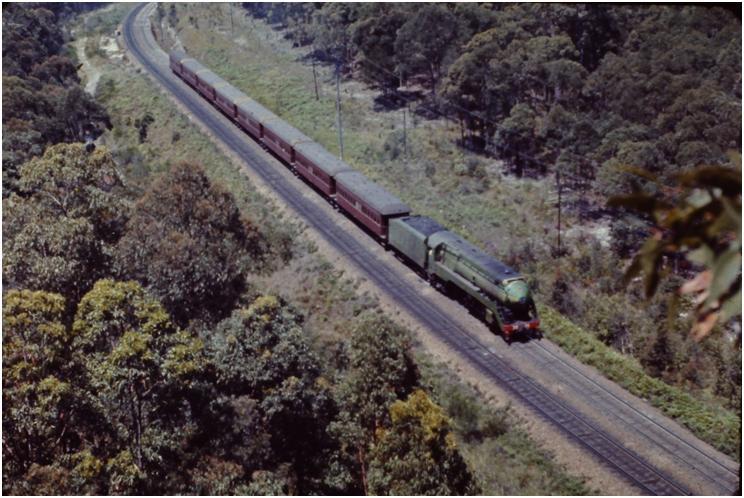 NSWGR 3801 climbs Hawkmount in 1970
