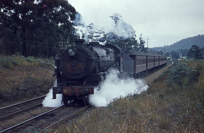 3612 nsw steam train locomotive narara 37x local passenger
