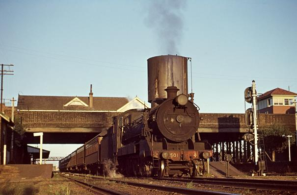 3501 Singleton Passenger Maitland 1968 nsw steam engine