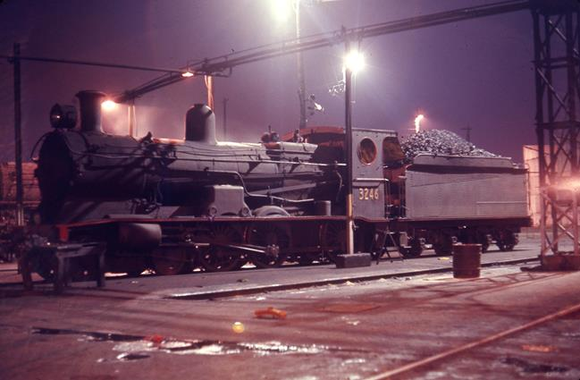 3246 Broadmeadow Loco Depot nsw steam engine 1971