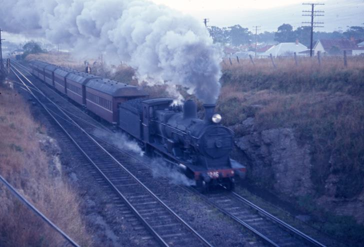 3246 SIngleton Passenger branxton NSW Steam Eninge 1971