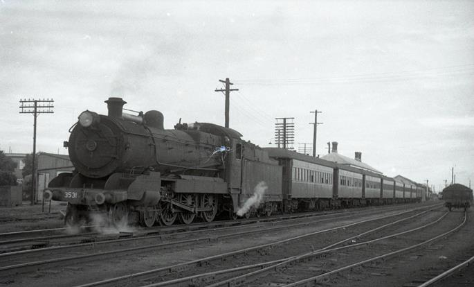 3531 nsw steam locomotive singleton 1968