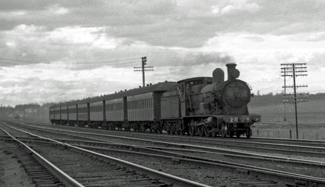 3213 NSW steam engine Beresfield 1968