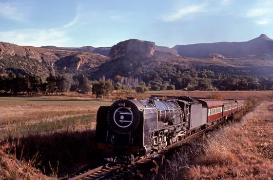 25NC Bethlehem South Africa steam train