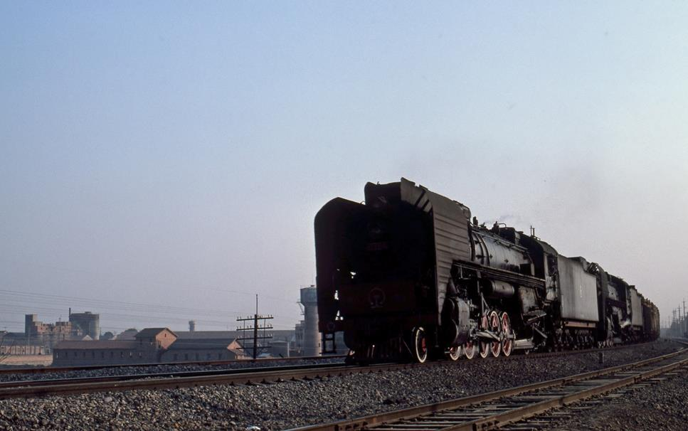 QJ china steam loco engine Yueyang Wuhan