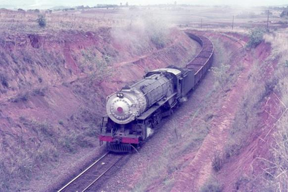 Swaziland railway sidvokodvo 1974 steam train