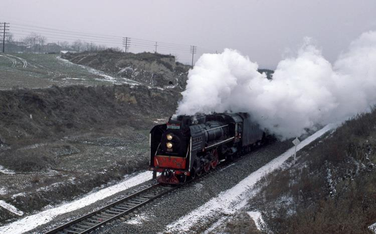 RM 1074 steam engine Xian china