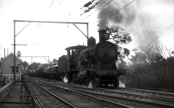 3233 p class cowan bank 1966 nsw steam train short north