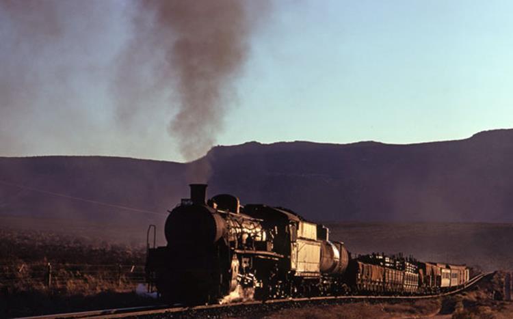 19C mixed steam train north cape town bitterfontein line