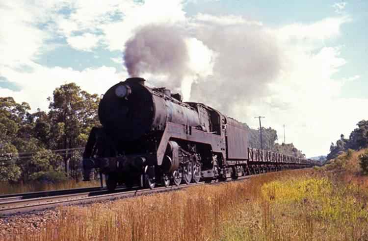3822 s truck steam train locomotive fassifern