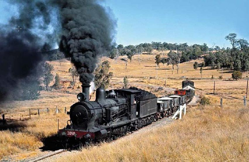 C3090T merriwa steam mixed train