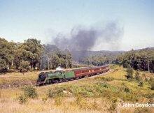 3813 newcastle flyer fassifern 1970 nsw steam train
