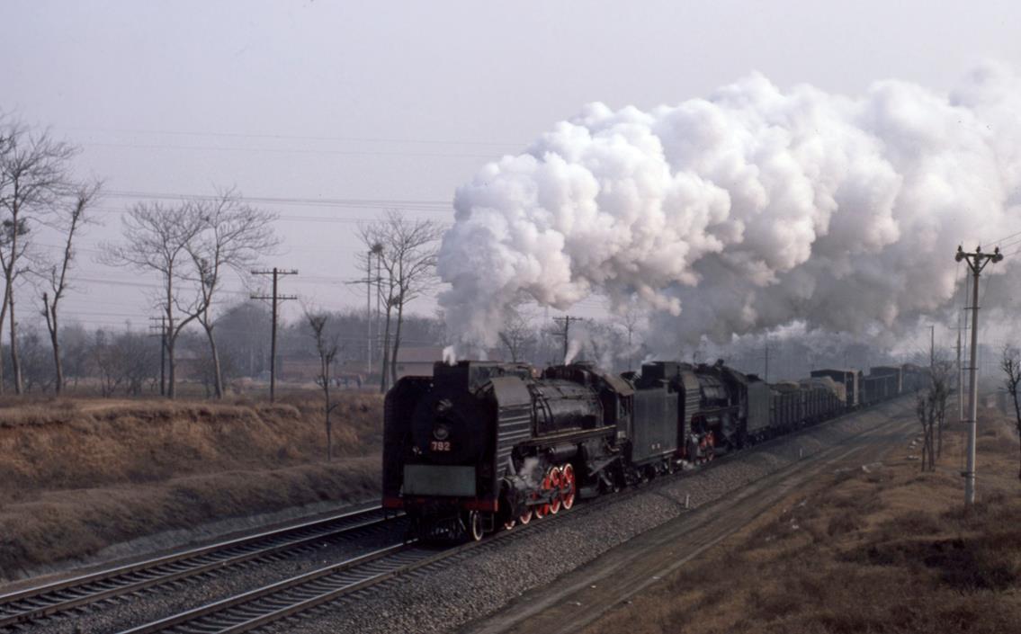 Qj steam engine train louyang