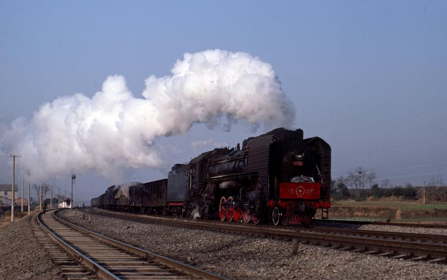 QJ china steam engine Yueyang  Wuhan