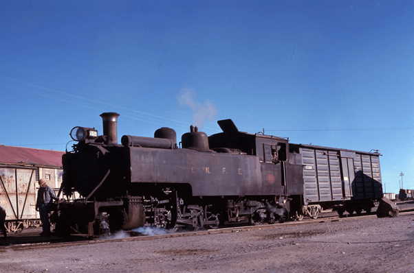 2-8-4T No 551 steam train engine Shunting At Uyuni Bolivia
