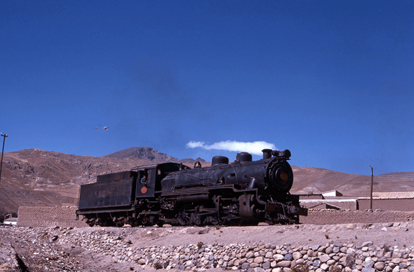 baldwin 2-8-2 655 potosi bolivia steam engine
