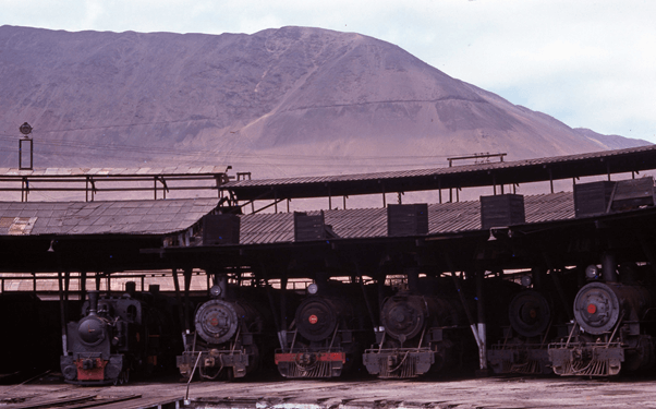 antofagasta locomotive depot chile steam engines